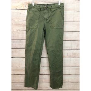 Banana Republic 6L Green Boyfriend Chino Pants